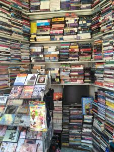 One of the many bookshops in town